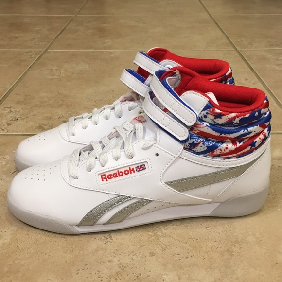 Reebok July 4th Retro 80s 90s High Tops RARE 1d2af67de